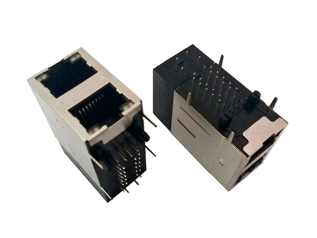 Female RJ45 Modular Connector , Lan RJ45 Connector POE Function 120 - 150V AC